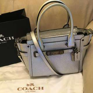 Coach 銀色 swagger 21