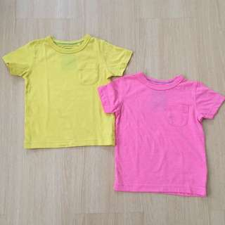 NEXT Pink & Yellow Tshirt Set