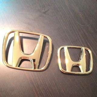 Honda Gold Emblem odyssey Jazz accord HRV