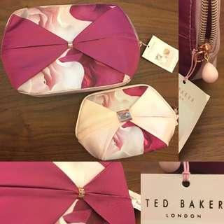 全新🆕超大Ted Baker 手提包 pouch 超大化妝袋