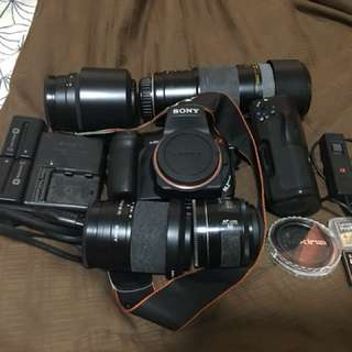 Selling full set Sony Alpha 300 DSLR