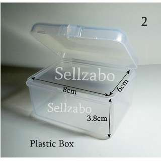 8cm : Case : Casings : Box : Containers : Stuff : Items : Multi Purposes : Storage : Care : Travel Use : Portable : Tools : White : See Through : Clear : Colour