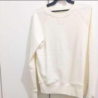🚚 無印良品 米白色上衣 尺寸s