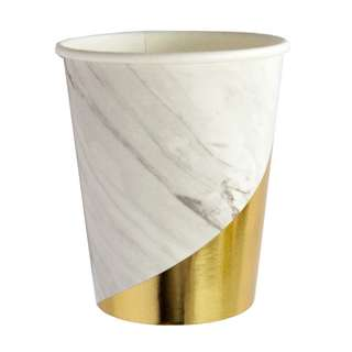 White Marble Paper Cups