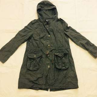 Women's Hoddie Jacket Parka Army
