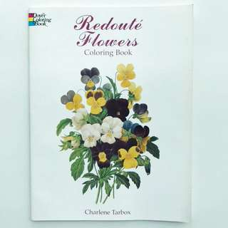 Book: Redoute Flowers Coloring Book