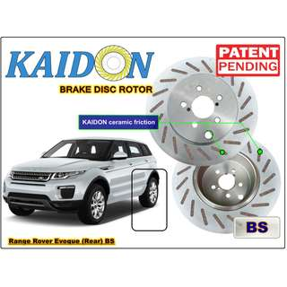 "Range Rover Evoque brake disc rotor KAIDON (REAR) type ""RS"" / ""BS"" spec"
