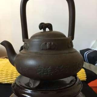 李薔生紫沙提壼(80年代作品)