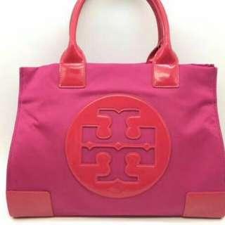 Tory Burch Ella Pink Nylon bag
