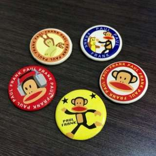 🍀BN Paul Frank Mini Badges
