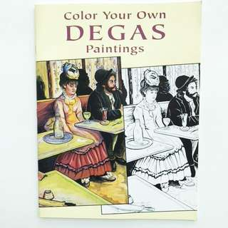 Book: Color Your Own Degas Paintings (Dover Art Coloring Book)