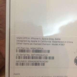 IphoneX Space Gray 64gb