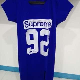 Tshirt dress blue