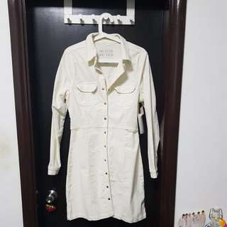 Cotton On White Fitted Shirt Dress