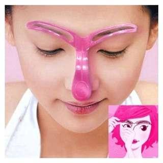 Crystal thrush artifact eyebrow card the two generation eyebrow tools eyebrow card auxiliary is hollow three-dimensional eyebrow card