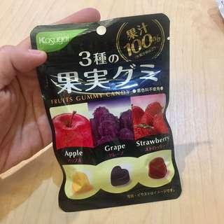 🚚 日本kasugai雀扇貽 三口味水果軟糖