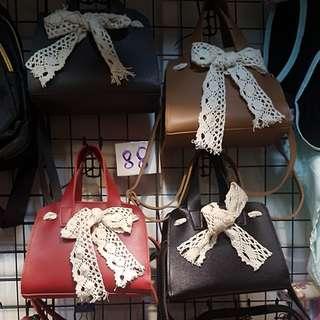 蝴蝶結pu手袋