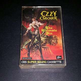 Ozzy Osbourne (the ultimate sin) cassette rock - rare