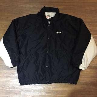 🚚 古著 Vintage Nike 大字Logo 黑白 拼色 超厚 超保暖 外套