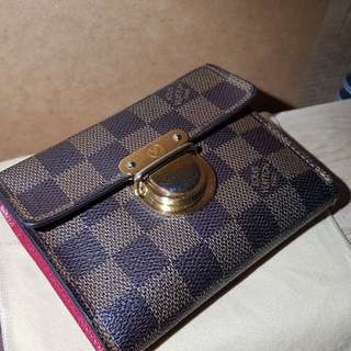 Authentic Louis vuitton wallet Koala Damier ebene / Rouge