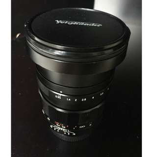 Voigtlander 17.5mm f/0.95 MFT (Micro Four Third) Manual Lens
