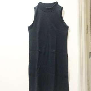 Dark Grey Turtle Neck Dress