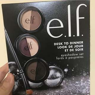 Elf desk to dinner eyeshadow with brush set