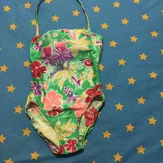 Flower swimming suit