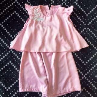 Baju kurung peplum baby (6mth-18mth)