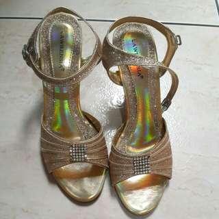 Heels / Sepatu pesta 7cm extra GOLD