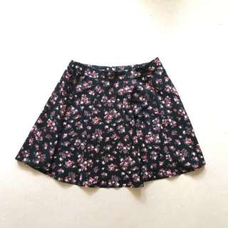 Bershka Skater Skirt (floral)