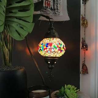 Vintage mosaic patterned lamp