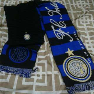 Authentic Scarf & kupluk intermilan (Official Product)