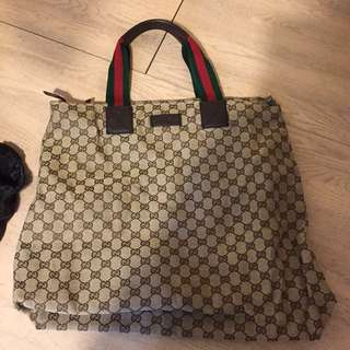 Gucci monogram tote bag hand carry bag