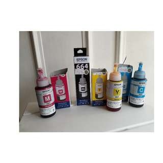 4 bottles EPSON ink / toner to sell in cheap price