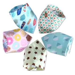 Baby cotton triangle bibs