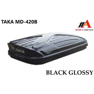 TAKA MD-420B Roofbox Super Slim 35cm Height Black Glossy