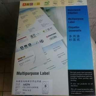 Dvd label 300個
