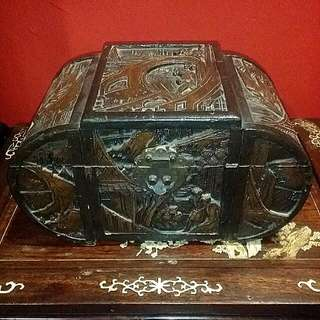 Antique Chinese Wood Carved Box