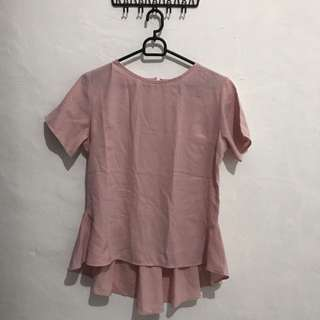 Dot dtails blush shirt