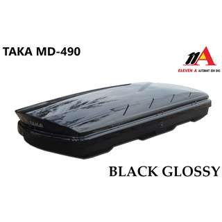 TAKA MD-490 Roofbox Super Slim 34cm Height Black Glossy