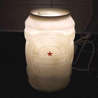 Heineken Lamp 喜力燈飾 LED 座地燈 枱燈 傢俬 裝飾 擺設 lighting Premium beer 啤酒 white muji ikea