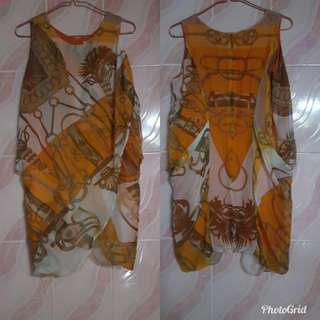 hermes silk mid lenght dress