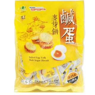 香港代理行貨 台灣昇田 鹹蛋麥芽餅 咸旦麥芽餅250g