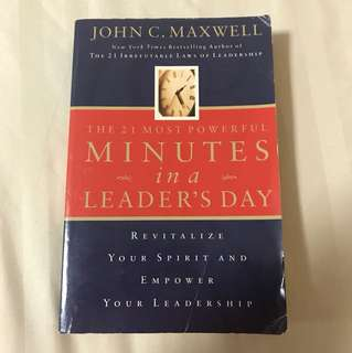 Choose 5 items for $15: The 21 Most Powerful Minutes in a Leader's Day