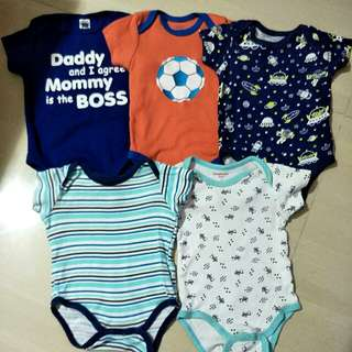 Assorted Bodysuits/Baby Rompers 0-3mths