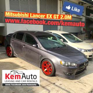 "LOUD & modded Mitsubishi LANCER EX GT 2.0M unichip tuned subwoofer 17"" volks racing rims"