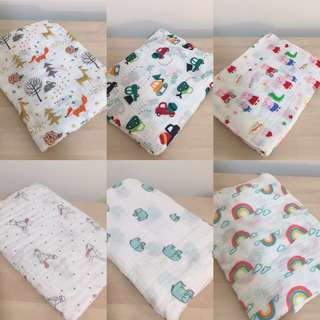 Baby muslin blanket/ swaddle/ romper