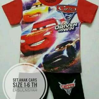 Set.Anak Motif Cars