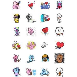 BT21 Stickers